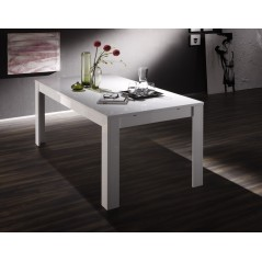 Table Milan 160x90 cm blanc brillant