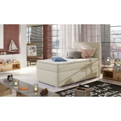 Lit adulte boxsprings 1 personne Maryland beige