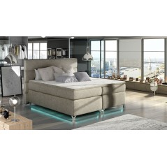 Lit adulte boxsprings avec LED Utah beige