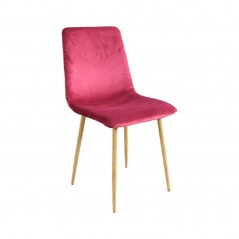 Chaise B3 en velours bordeaux