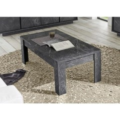 Table basse Courtney effet marbre noir