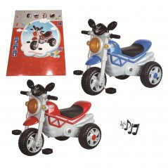 Tricycle imitation moto musical couleur au choix