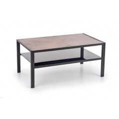 Table basse Rabat 100x55 cm marron et noir