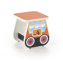 Tabouret pour enfant Locomotive orange