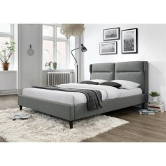 Lit adulte Chicago 160x200 cm gris