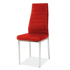 Chaise R11 rouge/ pied chrome