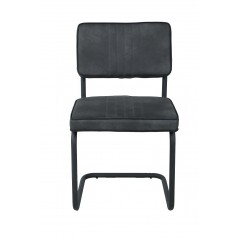Chaise Lina gris anthracite